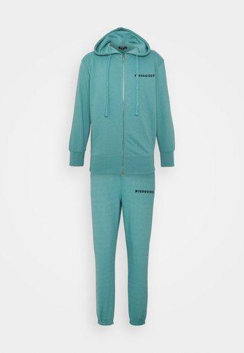 HOODIE AND JOGGER SET - Zip-up sweatshirt - blue