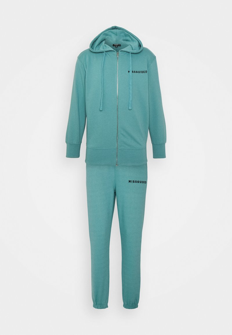 Missguided Petite - HOODIE AND JOGGER SET - Zip-up sweatshirt - blue