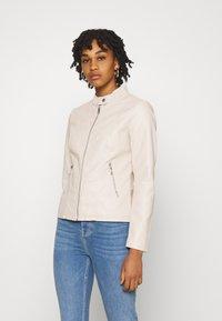 ONLY - ONLMELISA FAUX JACKET - Faux leather jacket - moonbeam - 0