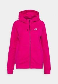 HOODIE - Zip-up sweatshirt - fireberry/white