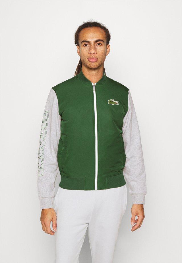 JACKET - Sportovní bunda - green/silver
