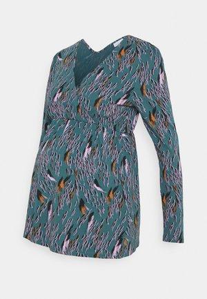 NURSING - Pitkähihainen paita - mallard blue