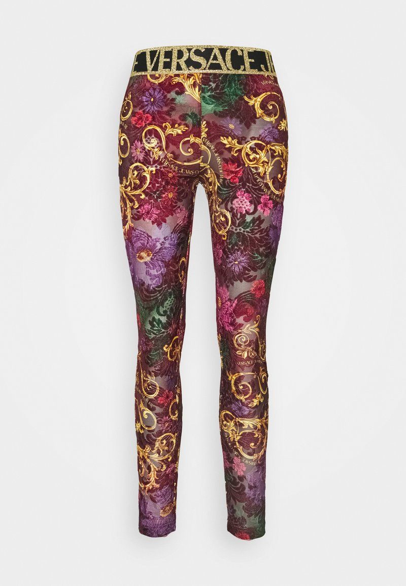 Versace Jeans Couture - Leggings - Trousers - rosso scuro