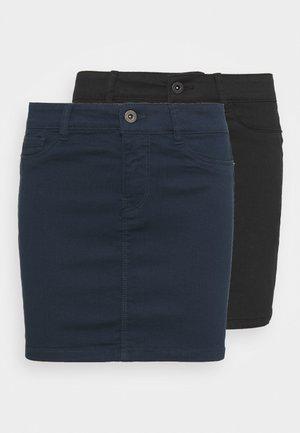 VMHOTSEVEN SHORT SKIRT 2 PACK - Mini skirt - black/navy blazer