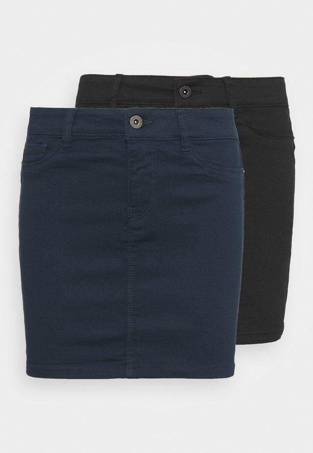 VMHOTSEVEN SHORT SKIRT 2 PACK - Minifalda - black/navy blazer