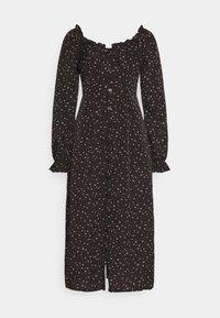 MILKMAID MIDI DRESS DITSY - Day dress - black