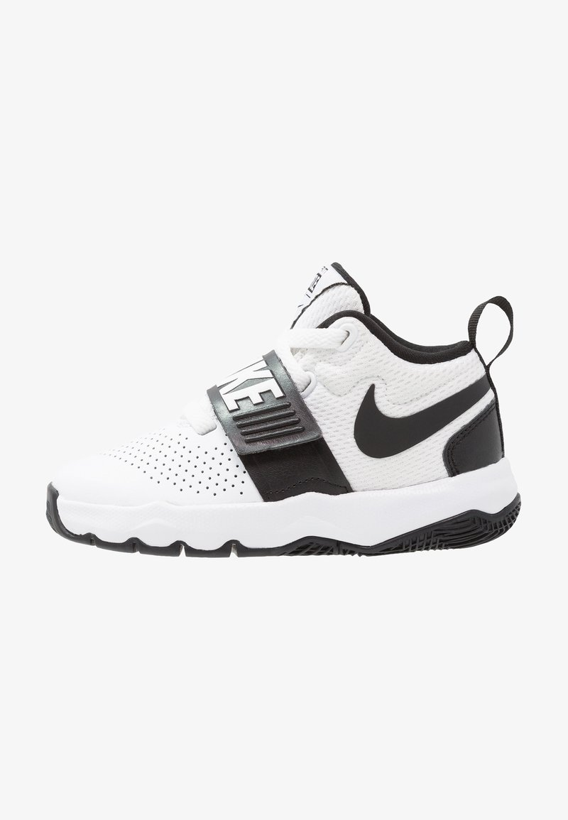 Nike Performance - TEAM HUSTLE D 8  - Basketball shoes - white/black