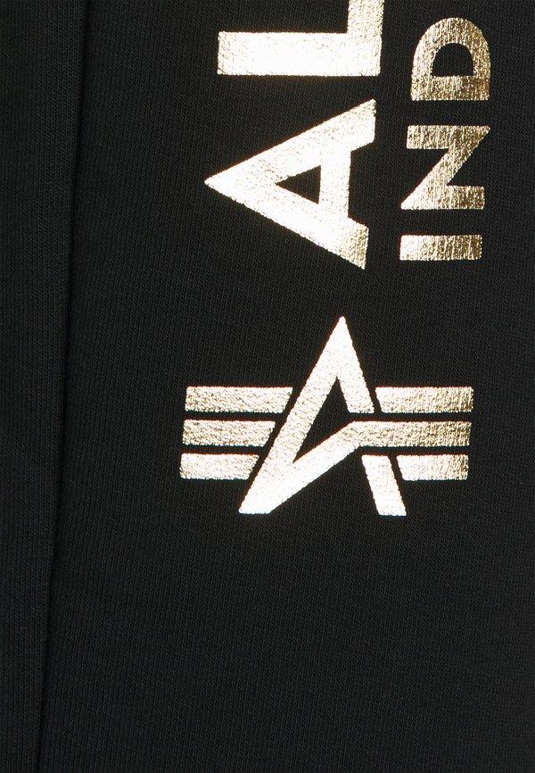 Alpha Industries BASIC JOGGER FOIL PRINT - Spodnie treningowe - black/czarny Odzież Męska ZAPE