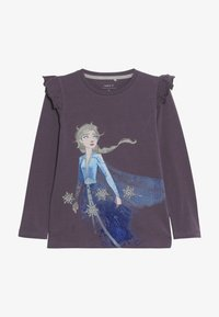 Name it - DISNEY FROZEN ELSA - Long sleeved top - black plum - 2
