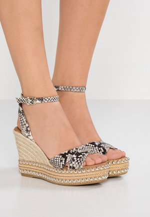 AMELIA - High heeled sandals - beige