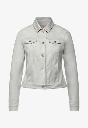Faux leather jacket - grau
