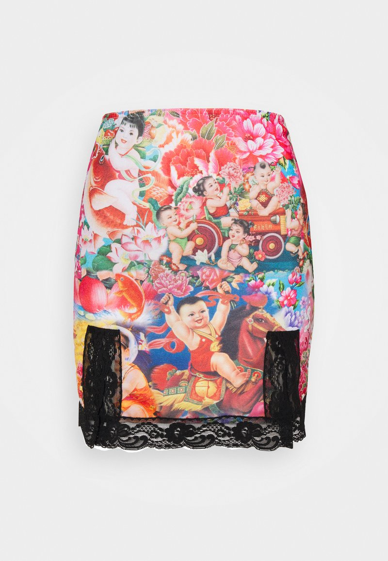 NEW girl ORDER - ORIENTAL SKIRT - Mini skirt - multi