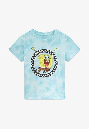 WM VANS X SPONGEBOB JUMP OUT CREW TEE - T-shirt print - (spongebob) blue