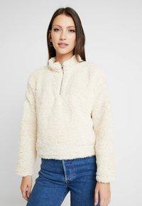 New Look - HALF ZIP - Sweatshirts - cream - 0