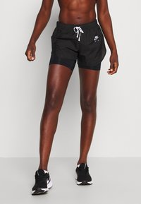 Nike Performance - 2IN1 SHORT - Sports shorts - black/white/reflective silver - 0