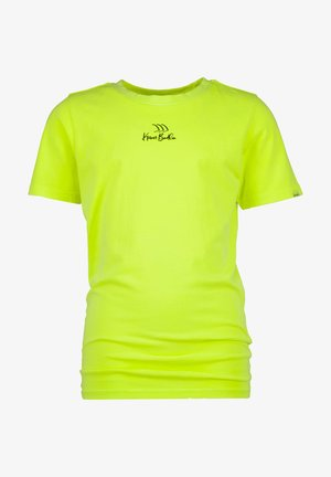 Print T-shirt - chill yellow