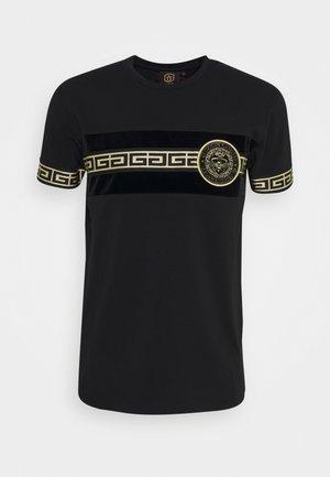 RODELL TEE - Print T-shirt - black
