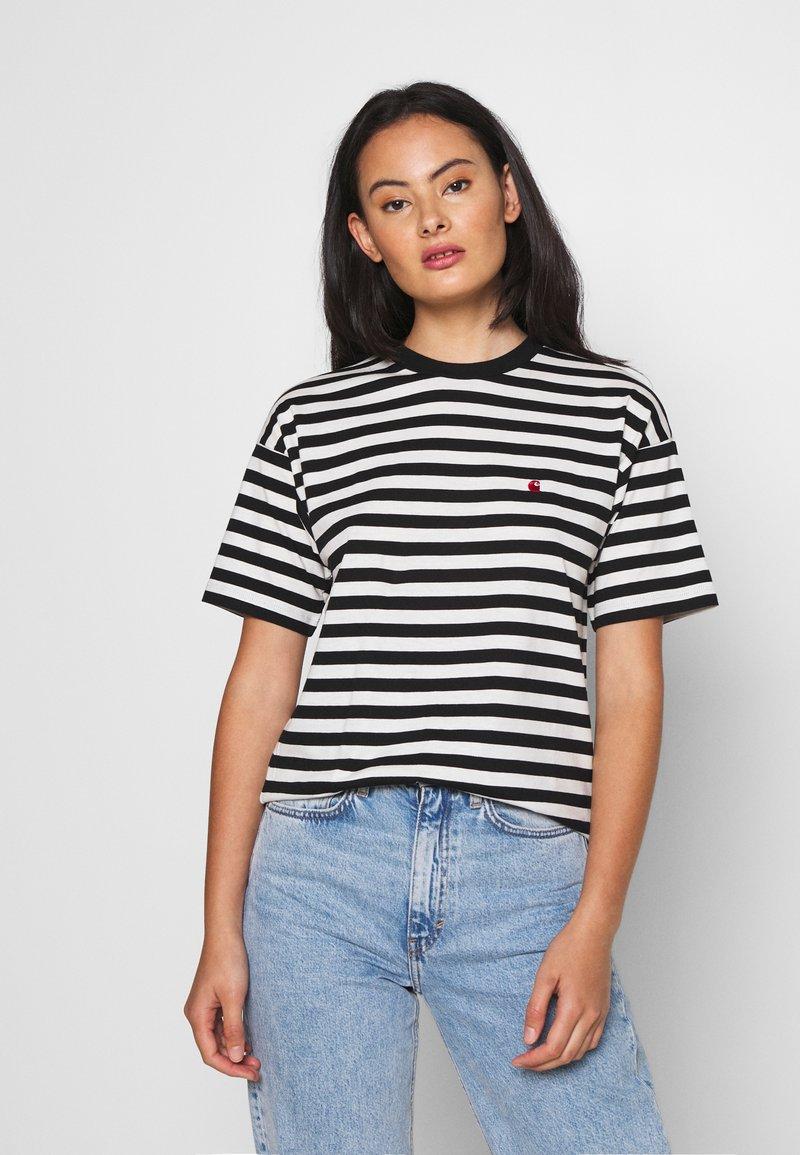 Carhartt WIP - PARKER - Print T-shirt -  black/wax
