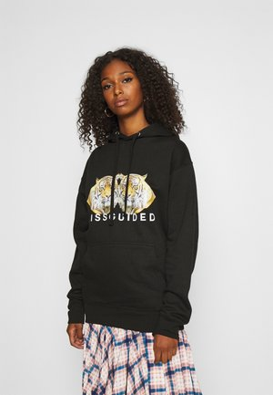 DOUBLE TIGER GRAPHIC HOODIE - Kapuzenpullover - black