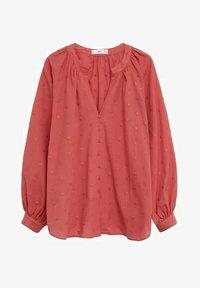 Mango - Button-down blouse - aardbeirood - 4