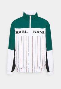 RETRO BLOCK PINSTRIPE TRACKJACKET - Summer jacket - white