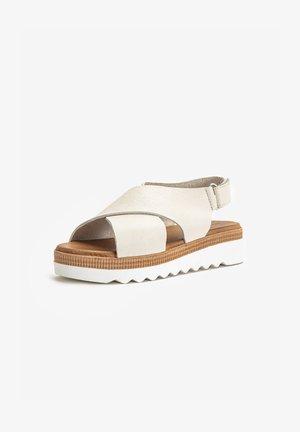 Sandales à plateforme - mntrl bone nbn