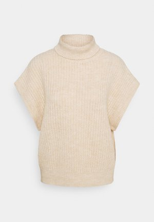 ALINA VEST - Print T-shirt - beige