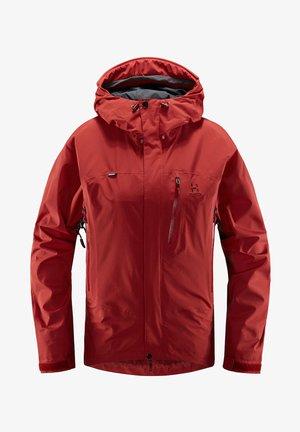 ASTRAL JACKET - Waterproof jacket - brick red