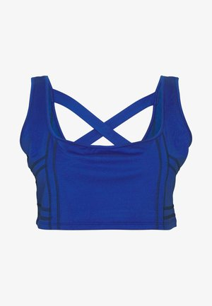 SEAMLESS SQUARE NECK CUT SEW - Toppi - cobalt