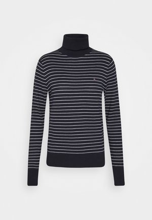 SOFT ROLL NECK SWEATER - Svetr - desert sky