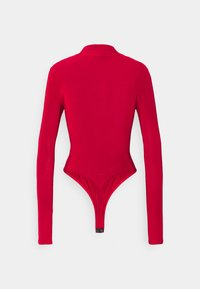 Missguided Tall - HIGH NECK CUT OUT RUCHED WAIST - Long sleeved top - red - 1