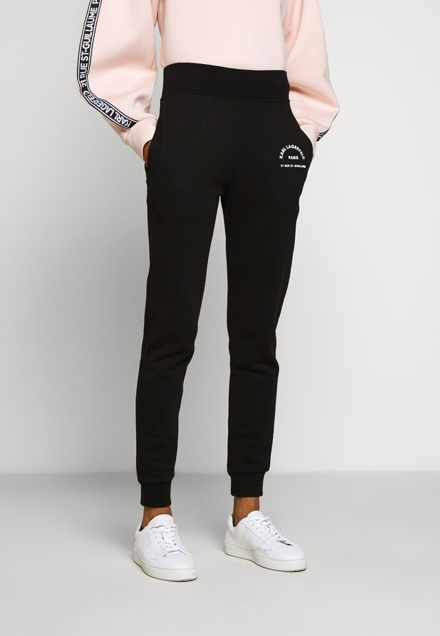 ADDRESS LOGO PANTS - Trainingsbroek - black