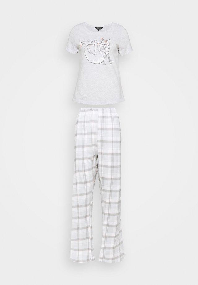NOVELTY SLOTH FOLDED SET - Pyjamas - blush
