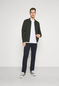Selected Homme - SLHJUDE O NECK TEE - Basic T-shirt - bright white - 1