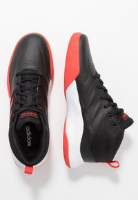 adidas Performance - OWNTHEGAME WIDE - Sports shoes - core black/active red/footwear white - 1