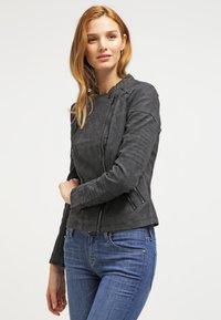 ONLY - ONLAVA BIKER  - Faux leather jacket - black - 0