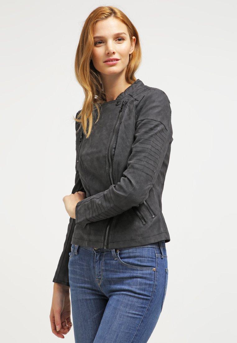 ONLY - ONLAVA BIKER  - Faux leather jacket - black