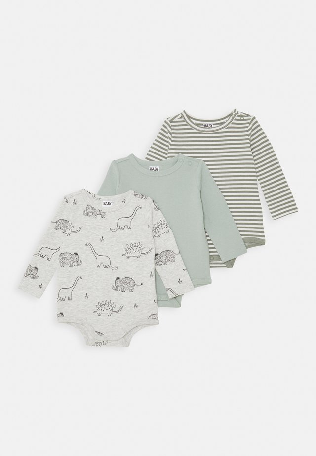 LONG SLEEVE BUBBYSUIT 3 PACK - Body - stone green/silver sage