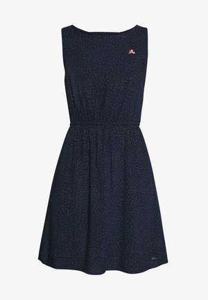DRESS WITH EMBROIDERY - Kjole - navy