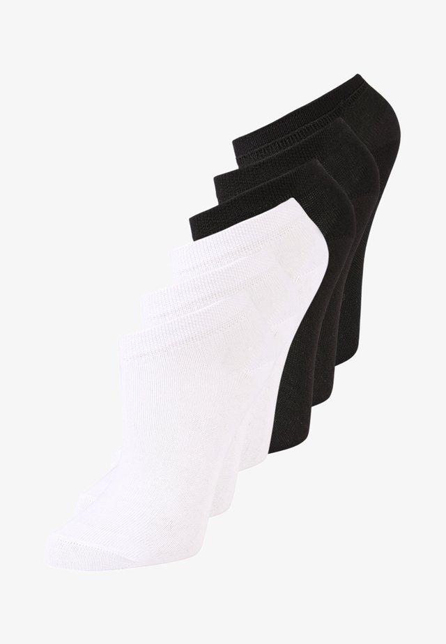 6 PACK UNISEX - Sukat - schwarz/weiß