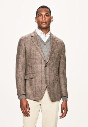 TATTERSAL CHK - Blazer jacket - brown/multi