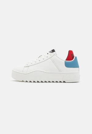 S-SHIKA LOW LACE - Trainers - white/blue/red