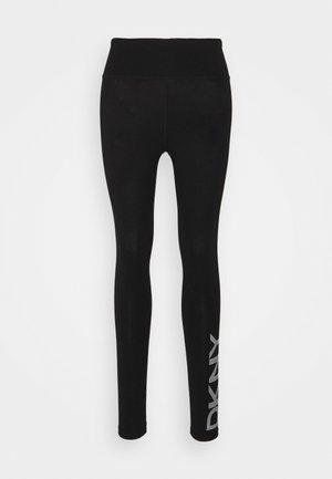 STRIPE LOGO LEGGING - Tights - black/white