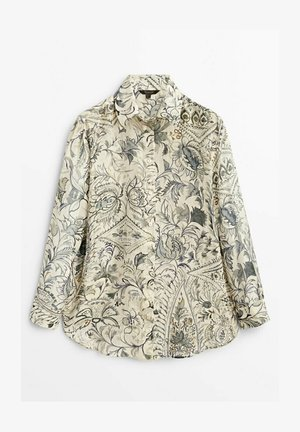 BLÄTTERPRINT - Button-down blouse - beige