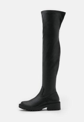 LUG SOLE BOOT - Overknee laarzen - black