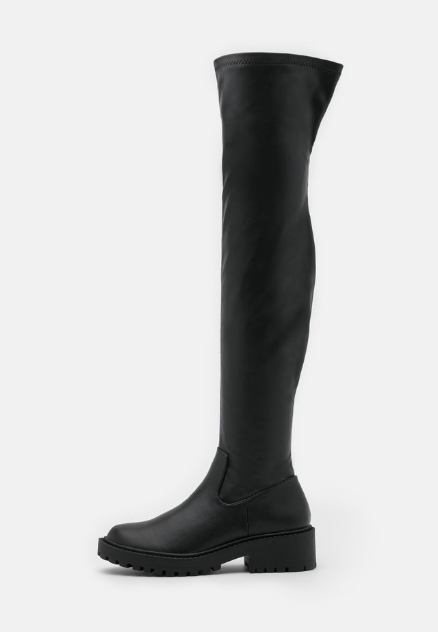 LUG SOLE BOOT - Over-the-knee boots - black