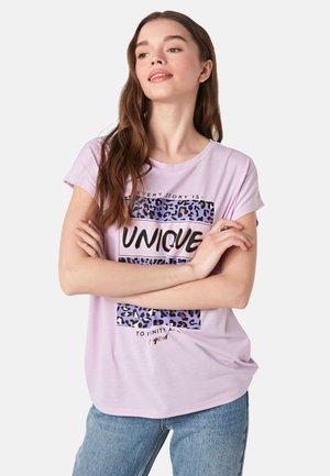 SHORT SLEEVE - Print T-shirt - lilac