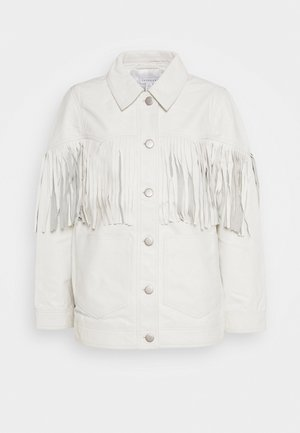ROY FRINGE JACKET - Leather jacket - white