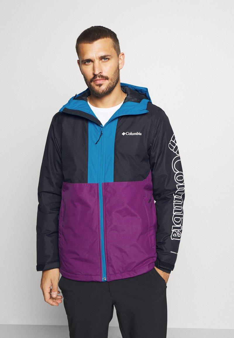Columbia - TIMBERTURNER JACKET - Veste de snowboard - plum/black/fjord blue