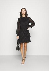 Forever New - CALLIE SKATER MINI DRESS - Day dress - black - 1
